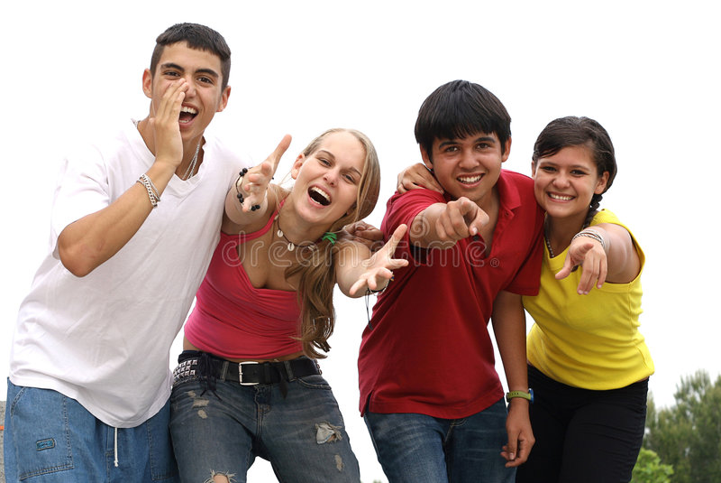 schöner lächelnder Teenager stockfoto