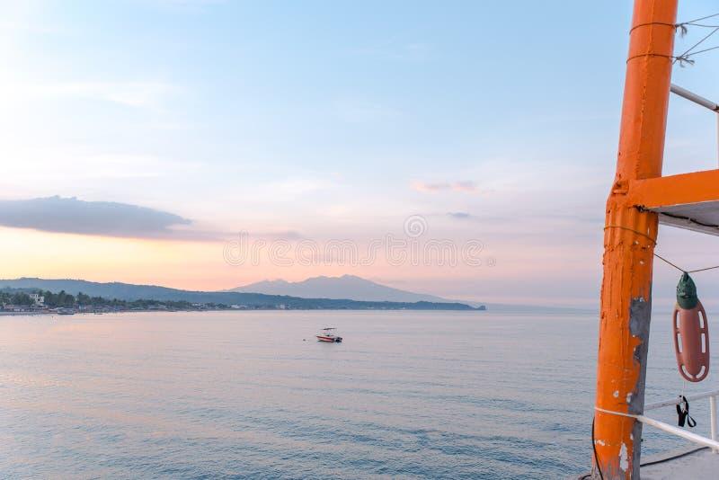 Schöner landscapefof Morong-Strand, Bataan, Philippinen lizenzfreie stockfotos