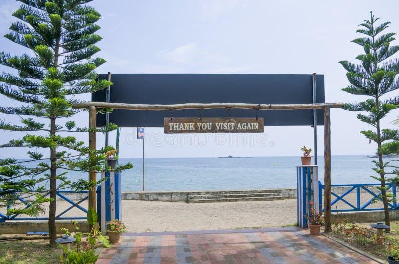Schöner Landschaftsküste Hafen Blair India lizenzfreie stockbilder