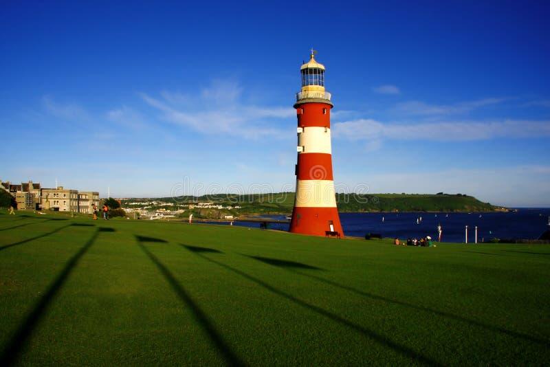 Schöner Leuchtturm, Plymouth, Großbritannien lizenzfreie stockfotografie