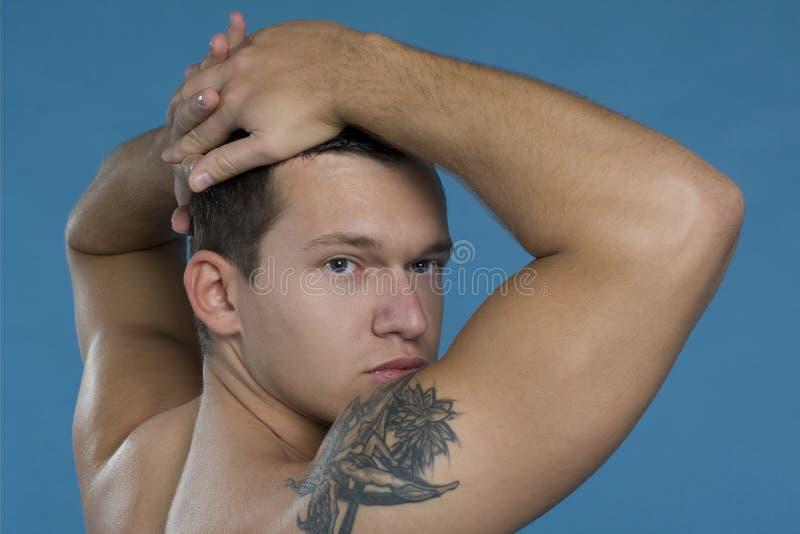 Schöner Mann stockbild