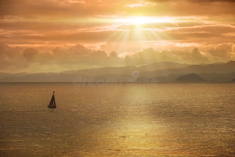 Schöner Meerblick in Costa Rica stockfoto