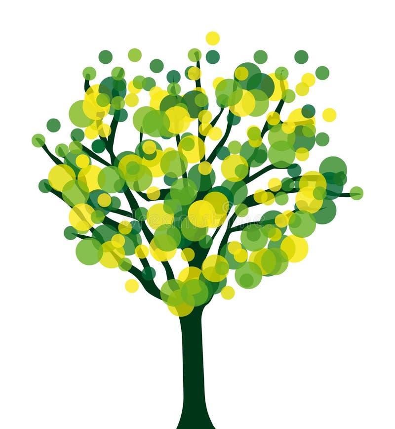 Schöner moderner grafischer Baum stock abbildung