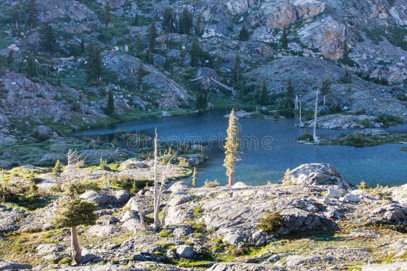 Schöner Mountainsee in der Sierra Nevadas stockfoto