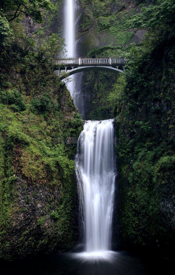 Schöner Multnomah-Wasserfall, Oregon USA stockfotografie