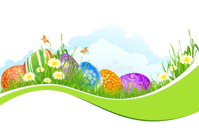 Schöner Ostern-Feiertags-Hintergrund stock abbildung