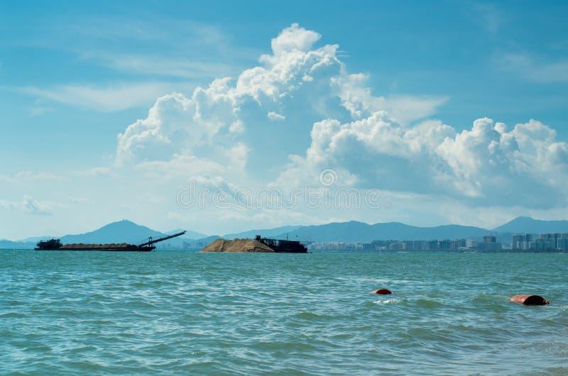 Schöner Ozean von SanYa HaiNan China stockfoto