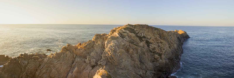 schöner Panoramablick, Strand, Kometenpunkt Oaxaca Mexiko lizenzfreies stockbild