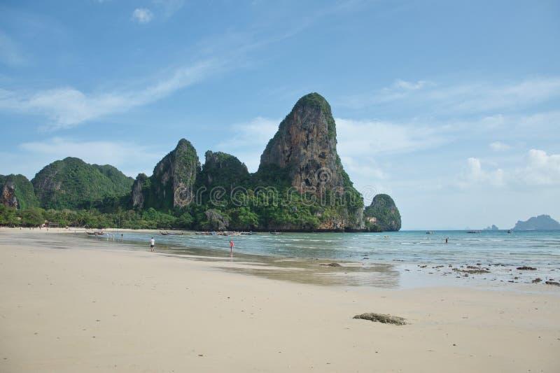 Schöner Railay-Strand in Krabi, Süd-Thailand lizenzfreies stockbild