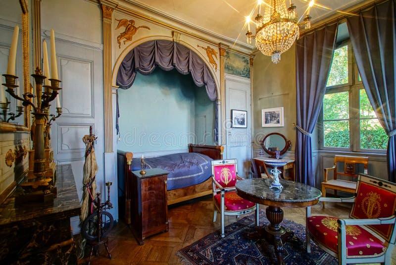 Schöner reicher klassischer Innenraum XIX des Jahrhunderts stockfoto