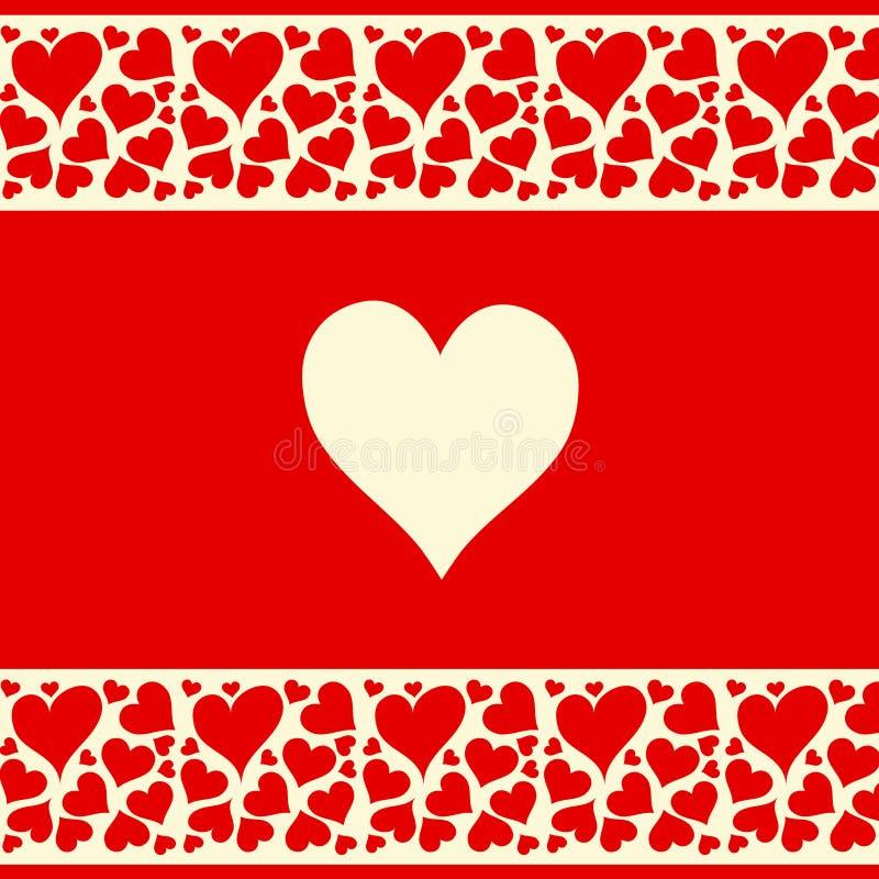 Schöner Roter Und Sahniger Hintergrund Mit Liebe Hören Lizenzfreie Stockbilder