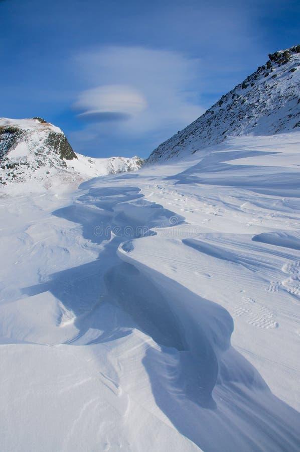 Schöner Schnee auf Berg Changbai stockfoto