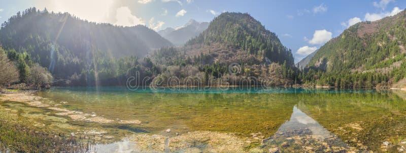Schöner See im Jiuzhaigou in Sichuan-Provinz, China stockfoto