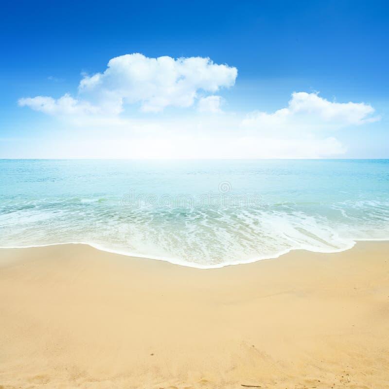 Schöner Sommer-Strand stockfotos