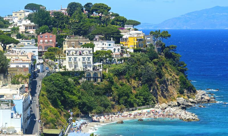 Schöner Sommertag in Capri-Insel, Italien stockbilder