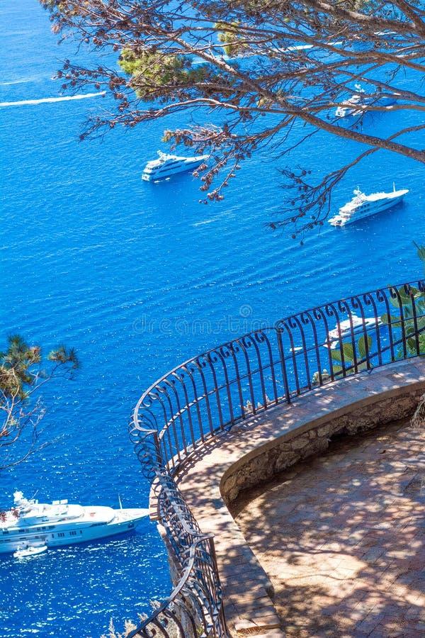 Schöner Sommertag in Capri-Insel, Italien stockfoto