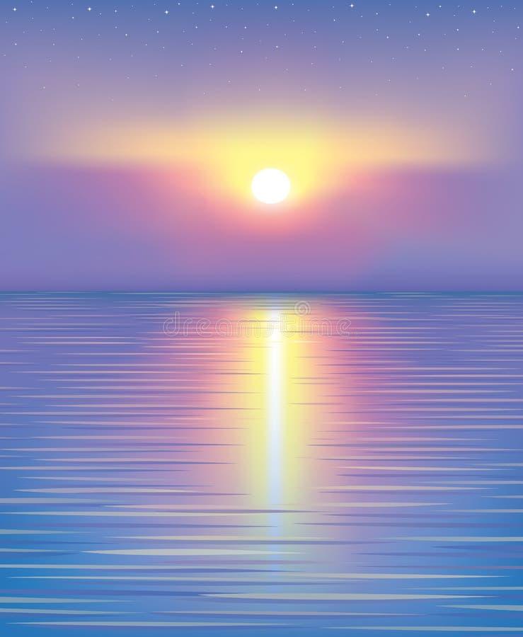Schöner Sonnenuntergang. vektor abbildung