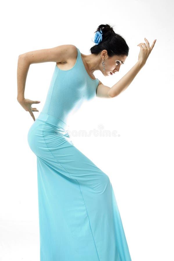 Schöner spanischer Tänzer lizenzfreies stockfoto