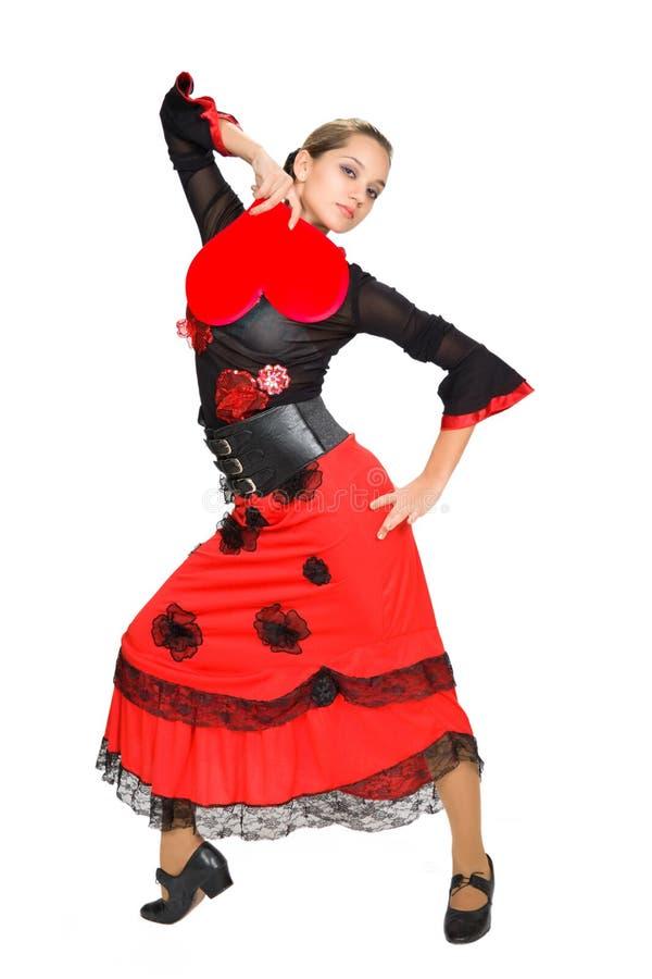 Schöner spanischer Tänzer. stockbild
