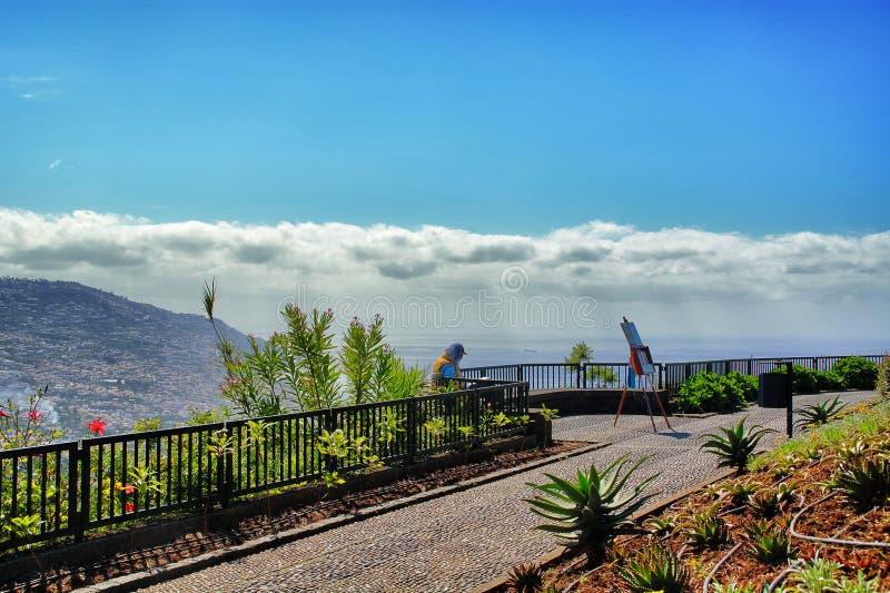 Schöner Standpunkt von Funchal-Stadt stockbilder