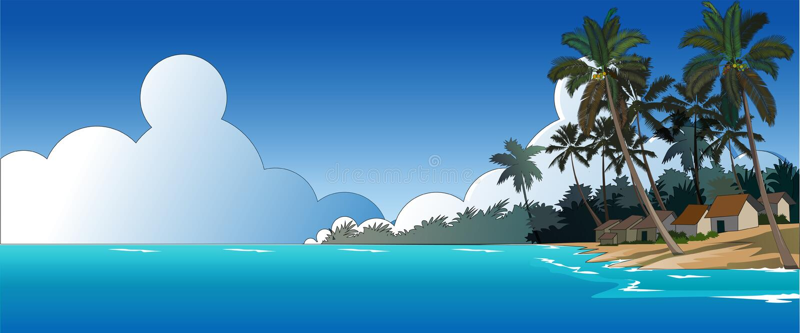 Schöner Strand lizenzfreie abbildung