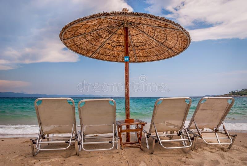 Schöner Strand, Chalkidiki, Griechenland lizenzfreie stockfotos