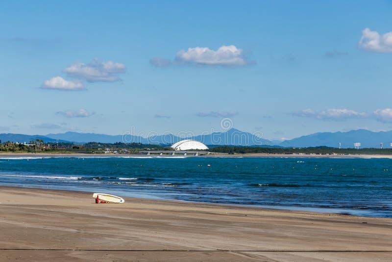 Schöner Strand und Küstenlinie in Aoshima-Insel, Miyazaki, Japan lizenzfreies stockbild