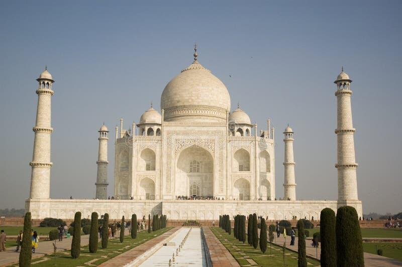 Schöner Taj Mahal im Sonnenaufgang helles Agra Indien lizenzfreies stockbild