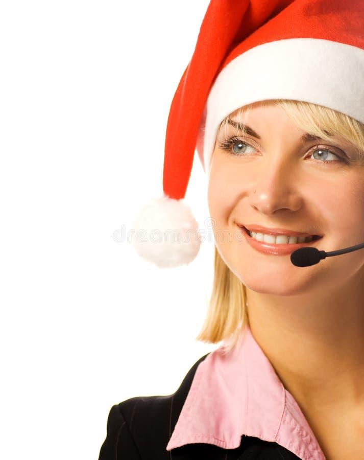 Schöner Telefonbediener lizenzfreies stockbild