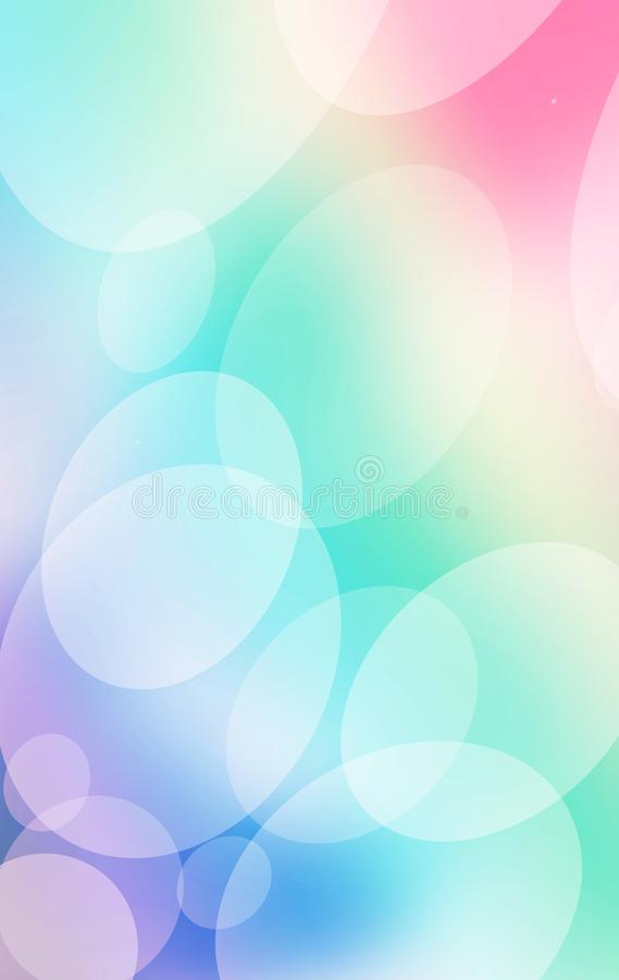 Schöner unscharfer Hintergrund mit bokeh beleuchtet im Blau, das Weiß vektor abbildung