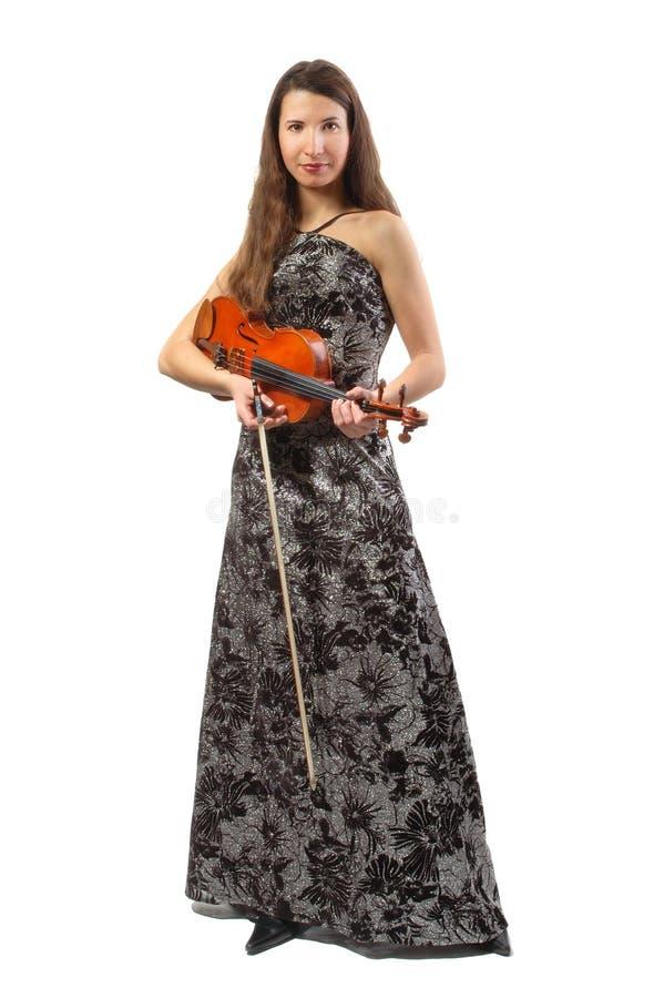 Schöner Violinist lizenzfreies stockbild