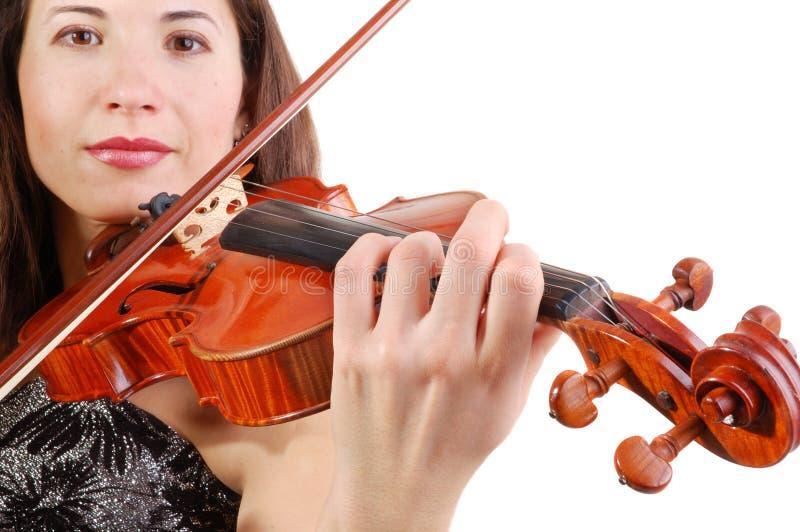 Schöner Violinist stockfoto
