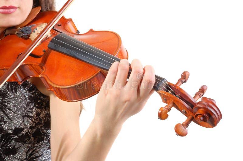 Schöner Violinist stockfotos