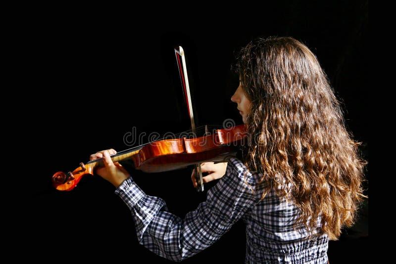 Schöner Violinistmusiker lizenzfreie stockfotos