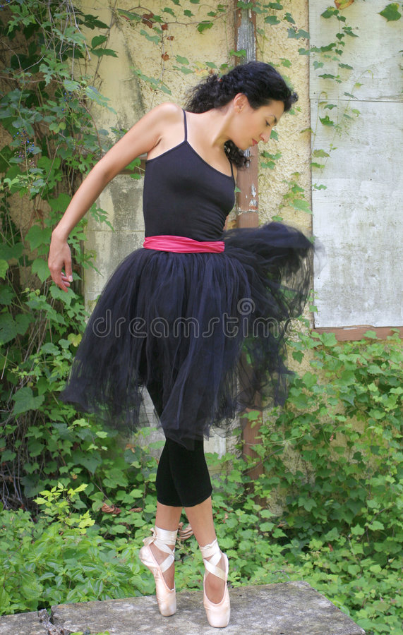 Schöner weiblicher Ballett-Tänzer stockbild