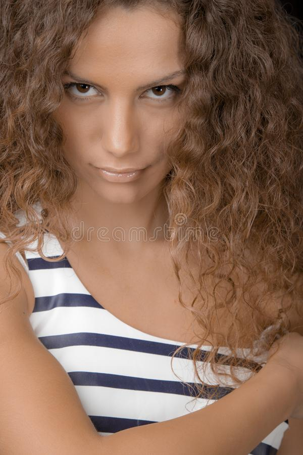 Schöner weiblicher Headshot lizenzfreies stockfoto