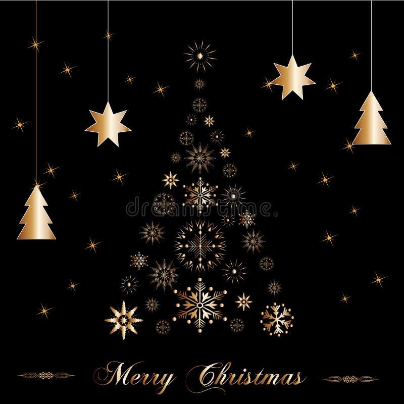 Schöner Weihnachtsbaum lizenzfreie abbildung