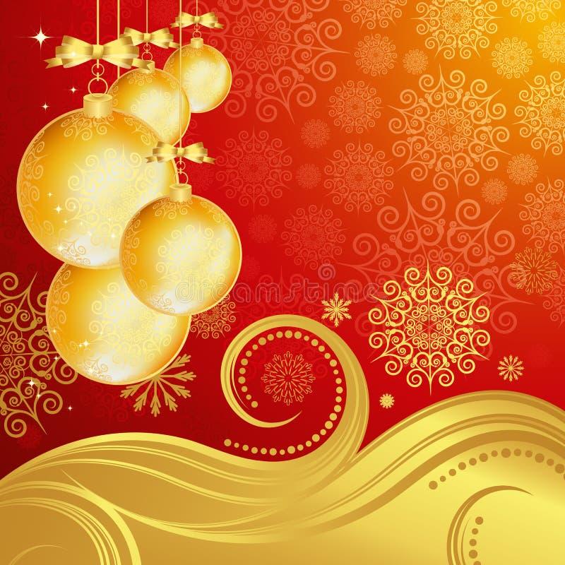 Schöner Weihnachtshintergrund. stock abbildung