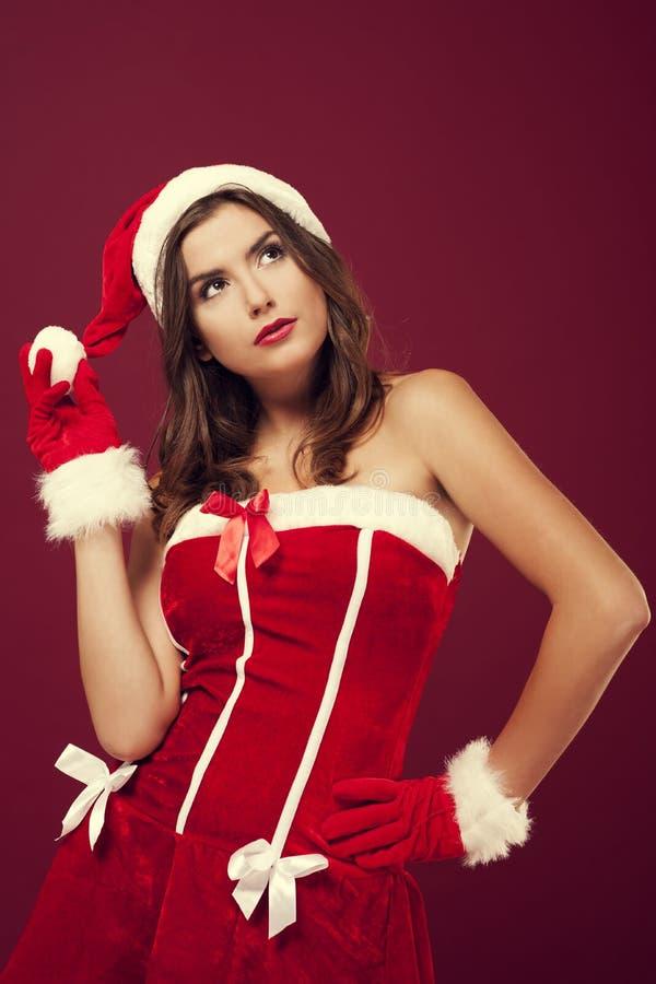 Schöner Weihnachtsmann lizenzfreies stockfoto