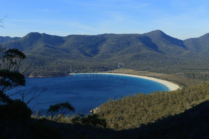 Schöner Weinglas-Bucht-Tasmanien-Bestimmungsort stockfotografie