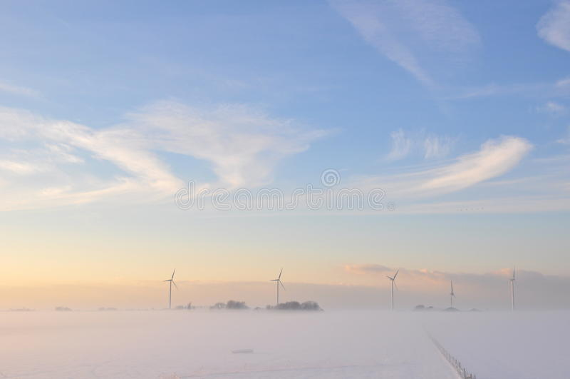 Schöner Winter in Holland stockfoto