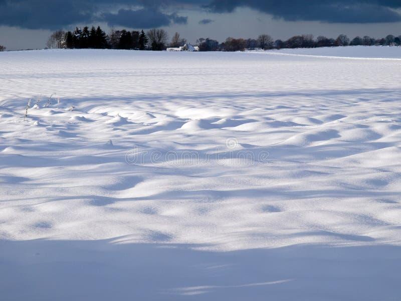 Schöner Winterschnee-Landschaftshintergrund stockfotos