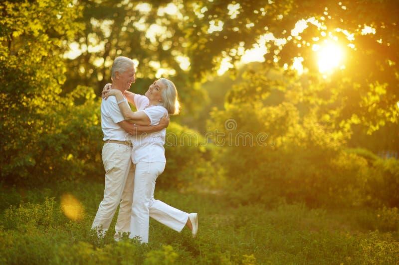 schönes älteres Paartanzen lizenzfreies stockfoto