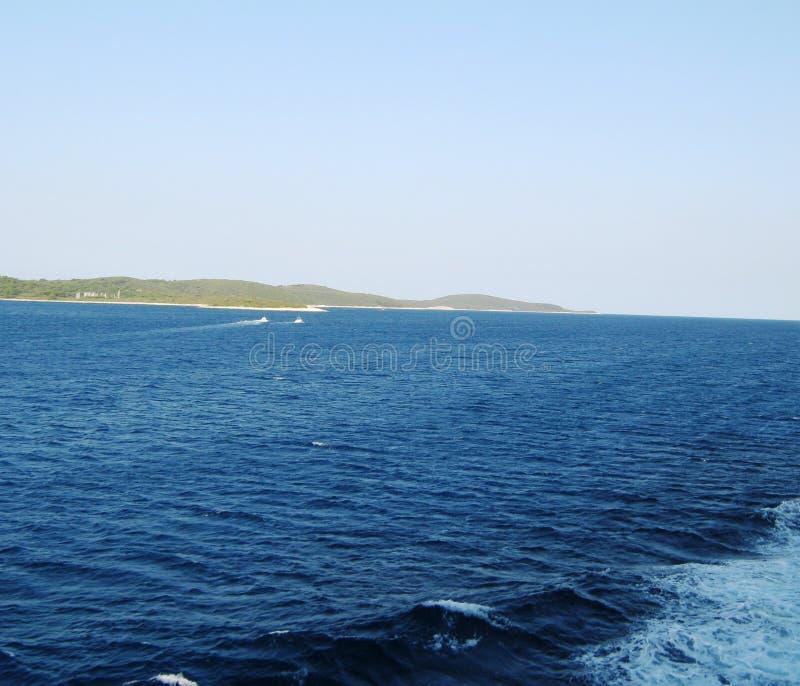 Schönes adriatisches Meer stockfoto