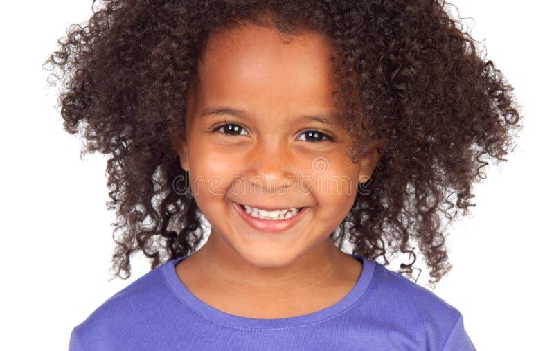 Schönes afrikanisches kleines Mädchen stockfoto