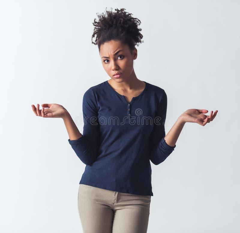 Schönes afroes-amerikanisch Mädchen stockbilder