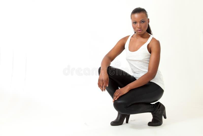 Schönes Art- und Weisebaumuster - junge Frau lizenzfreie stockbilder
