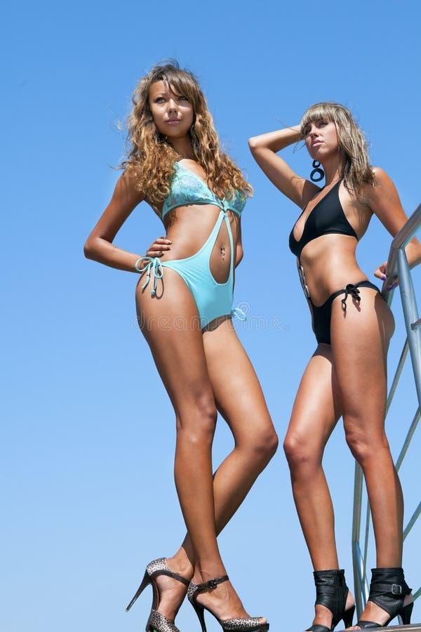 Schönes Baumuster des Bikinis zwei lizenzfreie stockfotografie