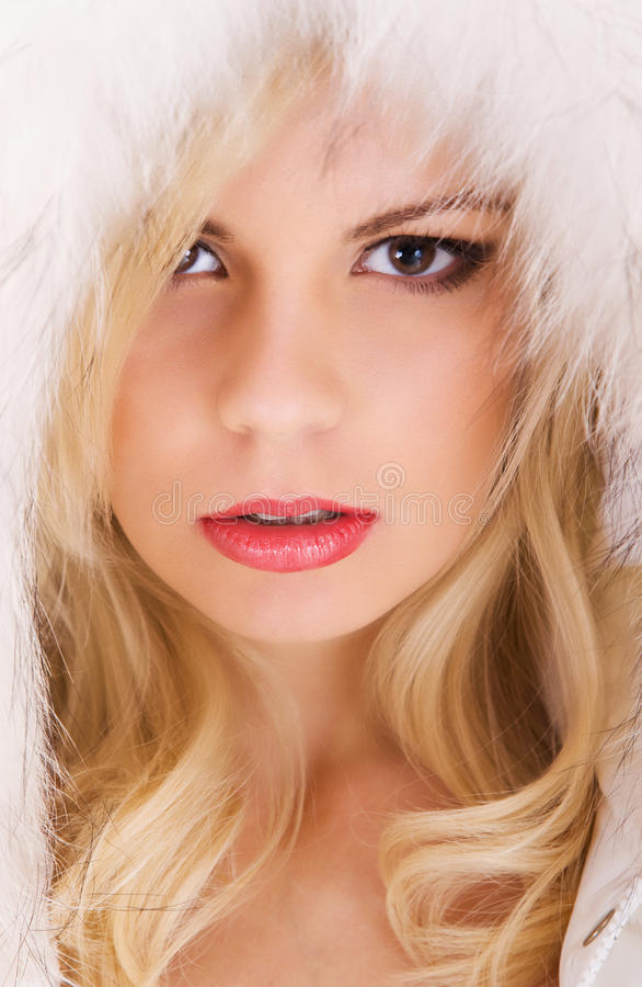 Schönes Baumuster mit dem blonden Haar lizenzfreies stockbild