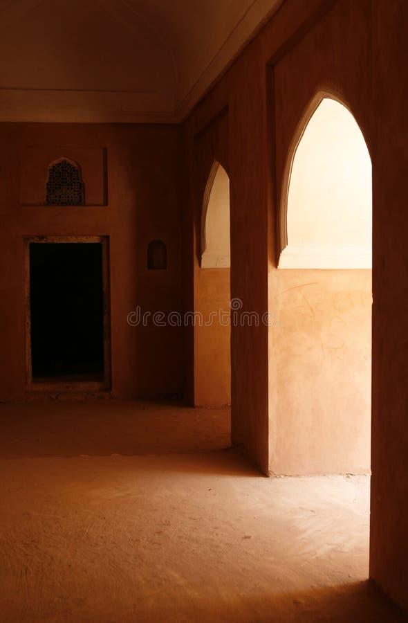 Schönes bernsteinfarbiges Fort, Rajasthan-Bereich, Indien lizenzfreie stockfotos